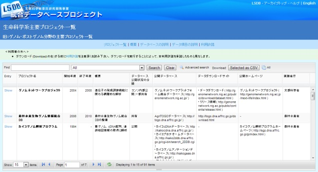 TogoDB Screenshot 01